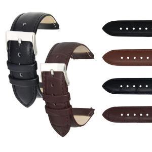 腕時計ベルト バンド 交換 牛革 22mm 20mm 18mm 16mm 14mm 12mm 牛革時計ベルト U3503245|mano-a-mano