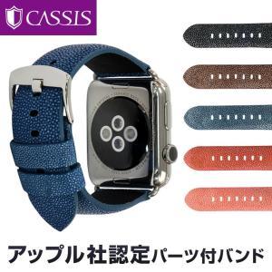 アップル社認定パーツ付バンド アップルウォッチ 42mm用 専用バンド カシス製 腕時計ベルト バンド  TYPE PNR44 UBPAN007(ガルーシャ)  腕時計ベルト バンド|mano-a-mano