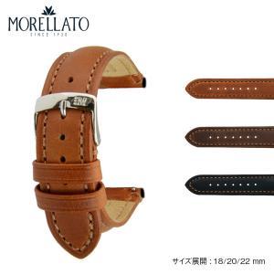 腕時計ベルト バンド 交換 牛革 メンズ 22mm 20mm 18mm MORELLATO DERAIN X4434B09|mano-a-mano