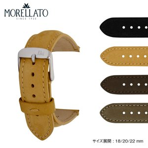 腕時計ベルト バンド 交換 牛革 ヌバック 22mm 20mm 18mm MORELLATO BERNINI X5041B94|mano-a-mano