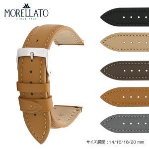 腕時計ベルト バンド 交換 牛革 メンズ 20mm 18mm 16mm 14mm MORELLATO MUNCH X5333D10|mano-a-mano