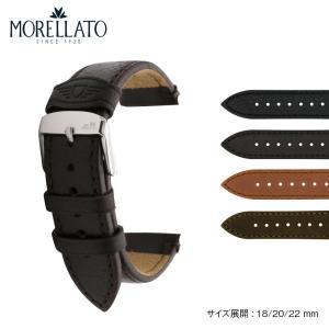 腕時計ベルト バンド 交換 バッファロー 牛革 22mm 20mm MORELLATO LAWSON X5335599|mano-a-mano
