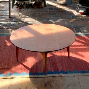 折りたたみ式の丸い座卓(小)【カントリーチェア】|manpuku-kyusyu
