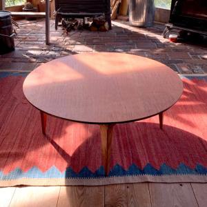 折りたたみ式の丸い座卓(大)【カントリーチェア】|manpuku-kyusyu