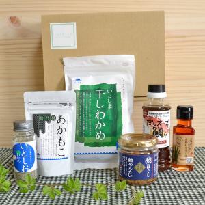 糸島からお届けする毎日の食卓セット(B)/ 天然真鯛 糸島 スープ 調味料 干しわかめ 辛い ハバネロ ねぎ油 弥富農園 美味しい 手土産|manpuku-kyusyu