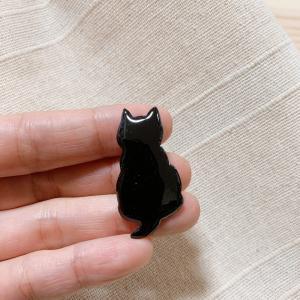 七宝焼き 猫 三毛猫 ぶち猫 おしゃれ猫 かわいい ブローチ ピンバッチ 手作り 糸島 送料無料【のび工房】|manpuku-kyusyu