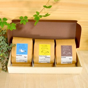TAISHO COFFEE ROASTERブレンドコーヒー3種セット【TAISHO COFFEE ROASTER】/ 本格焙煎 コーヒー 珈琲 ティータイム 粉|manpuku-kyusyu