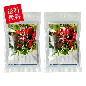 糸島の乾物 海藻 お試しセット 送料無料 いとしま 海のサラダ 2袋【山下商店】|manpuku-kyusyu