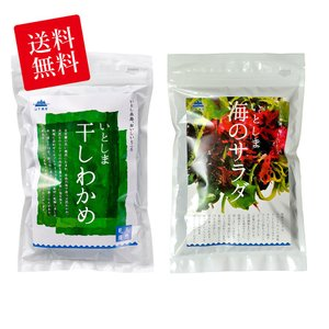 糸島の乾物 海藻 お試しセット 送料無料 乾燥わかめ・海のサラダ【山下商店】|manpuku-kyusyu