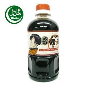 ハラル本醸造まろやか醤油500ml(お両ちゃんラベル)Maroyaka Shoyu|manryo-store