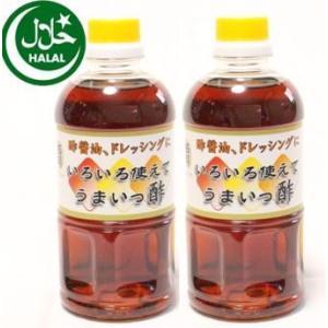 万両味噌醤油醸造元ハラルいろいろ使えてうまいっ酢500ml2本 送料無料 ドレッシングタイプ酢醤油レターパック|manryo-store