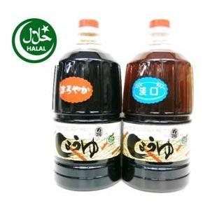 万両味噌醤油醸造元ハラル本醸造まろやか醤油とJAS標準うすくち醤油1.5L ハラール 送料無料|manryo-store