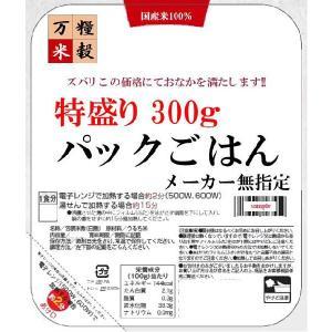 メーカー指定なしの『パックごはん 特盛り』300gx48袋 2もしくは4ケース|manryo