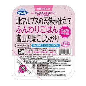 ☆ちょっとプレミアムなごはん☆ふんわりごはん富山県産こしひかり 200g×24個(1ケース)|manryo