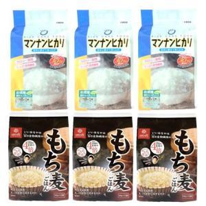 「マンナンヒカリ」と「もち麦ごはん」の最強食物繊維食品セット|manryo