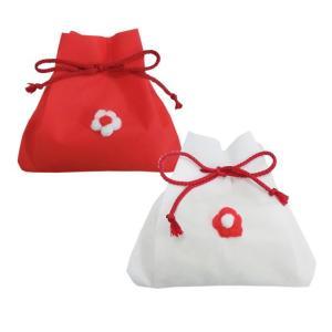 【送料無料】新潟県魚沼コシ 紅白きんちゃく袋 寿・お祝い向け (化粧箱入 のし対応可) (一部離島は送料無料対象外)|manryo