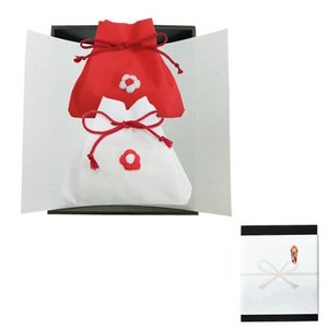 新潟県魚沼コシ 紅白きんちゃく袋 寿・お祝い向け (化粧箱入 のし対応可)|manryo|02