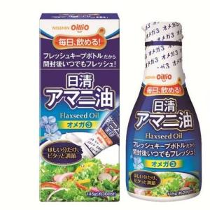 日清 アマニ油 (亜麻仁油) 脂肪酸 α-リノレン酸(オメガ3) 145gx6本 (1ケース)|manryo