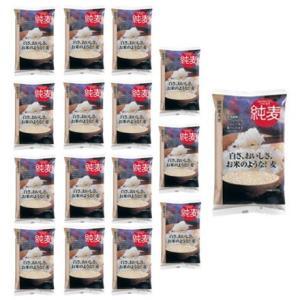 はくばく  「純麦」 国内産大麦 (600g x8個)x 2ケース|manryo