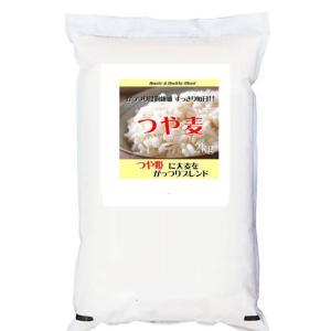 つや姫にがっつり大麦をブレンドした「つや麦」2kg (長期保存包装済み)|manryo