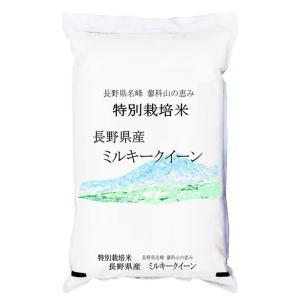 【20kg単位送料無料】 30年産 特別栽培米 長野県産 ミルキークイーン 白米5kgx1袋  白米・玄米・無洗米加工・/長期保存包装 選択可能|manryo