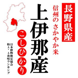 「A」受賞 30年産長野県伊那産コシヒカリ 白米10kgx1袋|manryo