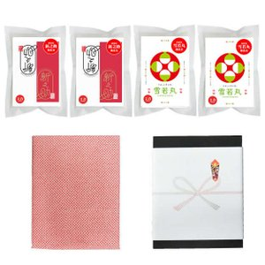30年産 イケメン セット 新之助 & 雪若丸 300gx4袋入り (化粧箱入 のし対応可) manryo