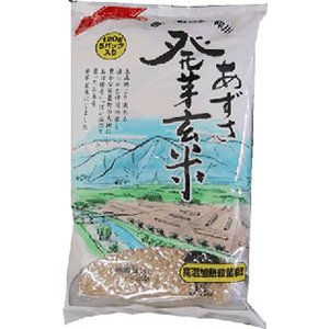 【送料無料】通常栽培米『あずさ発芽玄米』1ケース( 1袋(120gx5)×6個入)  (一部離島は送料無料対象外)|manryo