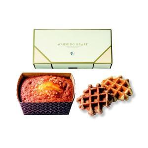 ウォーミングハート チーズケーキ&ワッフルセット 【お慶び】【お返し】【プチギフト】|manryo
