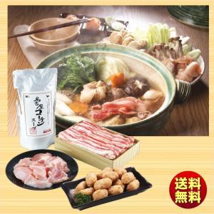 お歳暮 送料無料 冬ギフト スギモト 黒豚・コーチンちゃんこ鍋セット KKC50の画像