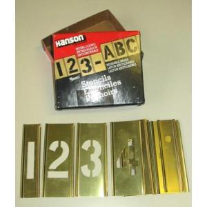 真鍮ステンシル 数字 38mm 9A038S  刷り込み黄銅板・ブラスステンシル|manten-life