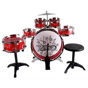子供用ミニドラムセット 赤 パーカッションおもちゃ おもちゃドラムセット 子供用ドラムセット