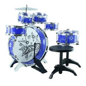 子供用ミニドラムセット 青 パーカッションおもちゃ おもちゃドラムセット 子供用ドラムセット