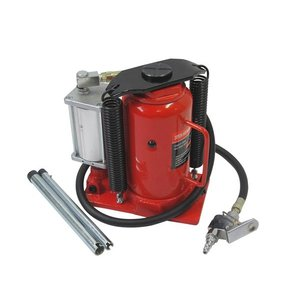 油圧式ダルマジャッキ20ton  油圧エアー式ボトルジャッキ20トントラックジャッキオイルジャッキ馬台、エアーで一気にジャッキアップ!手動で微調整!|manten-life