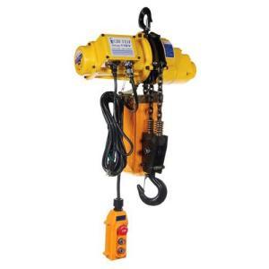 小型の電動チェーンホイストで動作ロックボタン機能付きで安心してクレーン吊り上げ作業ができます。 電圧...