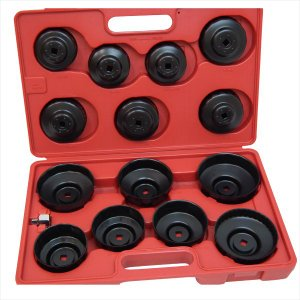 カップ型オイルフィルターレンチ14pcs  カップソケット型オイルフィルターレンチツール交換工具、12.7mm→9.5mm変換ソケットアダプター付き manten-life