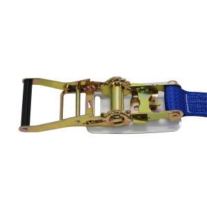 ラッシングベルト荷締め機 Dリング5ton 幅50mm×長さ1+5m  ラチェットバックル式ラッシングベルトDリング5トンタイダウンベルトラッシング荷締め固定ベルト|manten-life|02