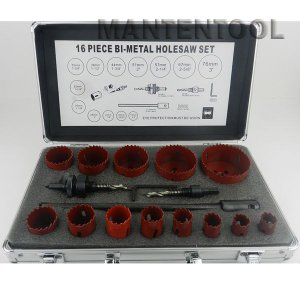 HSSバイメタルホルソー16pcsセット 六角軸 チップホールソー ホルソー工具 ホールソー|manten-tool