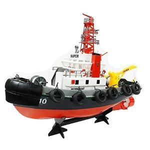 タグボートラジコン 2.4GHzヘンロン製港湾作業船ラジコン 放水銃付き SeaportWorkBoat
