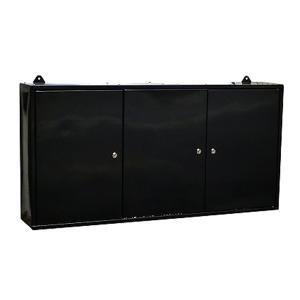 ウォールキャビネット 黒 ツールキャビネット 壁掛け工具棚 壁掛け工具箱|manten-tool