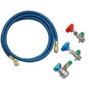 R12/134a兼用簡易ガスチャージャーセット エアコンガスチャージャー エアコンガス補充 冷媒ガス充填 manten-tool