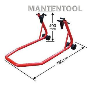 バイク用メンテナンススタンド 赤 二輪車ホイールクランプ フロントリア兼用バイクスタンド オートバイク整備工具|manten-tool