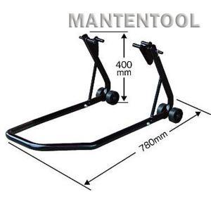 バイク用メンテナンススタンド 黒 二輪車ホイールクランプ フロントリア兼用バイクスタンド オートバイク整備工具|manten-tool