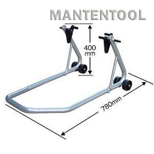 バイク用メンテナンススタンド 銀 二輪車ホイールクランプ フロントリア兼用バイクスタンド オートバイク整備工具|manten-tool