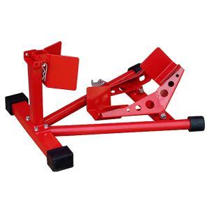 バイク用スポーツスタンド 赤 二輪車ホイールクランプ フロント用バイクスタンド オートバイク整備工具|manten-tool