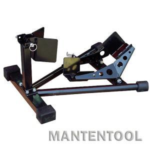 バイク用スポーツスタンド 黒 二輪車ホイールクランプ フロント用バイクスタンド オートバイク整備工具|manten-tool