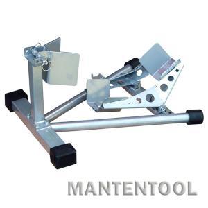 バイク用スポーツスタンド 銀 二輪車ホイールクランプ フロント用バイクスタンド オートバイク整備工具|manten-tool