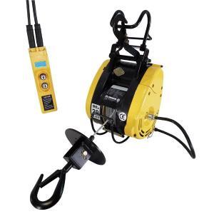 電動ウインチ160kg 電動ホイスト ベビーホイスト 巻き揚げ機|manten-tool
