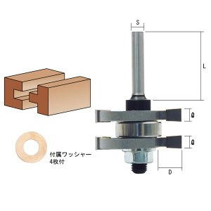 トリマ用凹凸面 TR-50 トリマー電動工具 トリマービット面取り トリマービット研磨|manten-tool