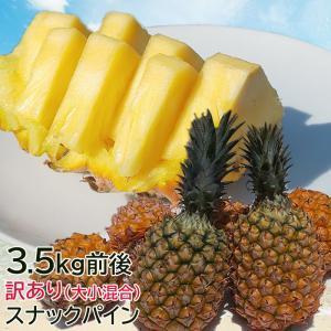 沖縄産 完熟 スナックパイン ボゴールパイン 3.5kg前後 5玉入り 大玉2玉 小玉3玉 糖度15度以上 パイナップル パイン|mantenmiyakojima